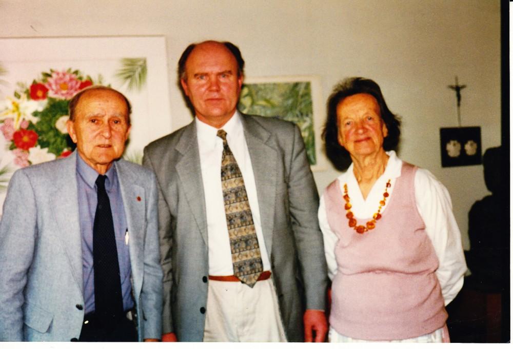 P. Visvydas, V. Sventickas, Alė Rūta. Santa Monika, 1996 m.