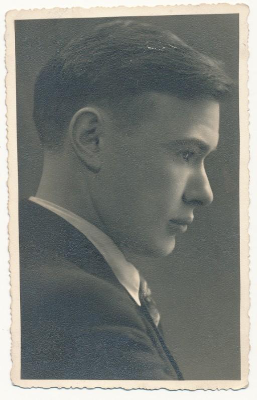 Paulius Jurkus – VDU studentas. Kaunas, 1938 m.