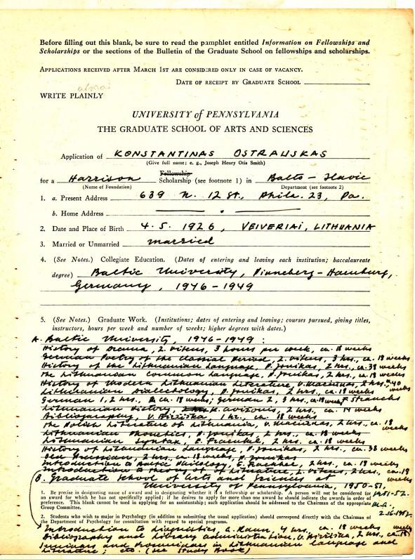 Pensilvanijos universiteto baigimo dokumentas