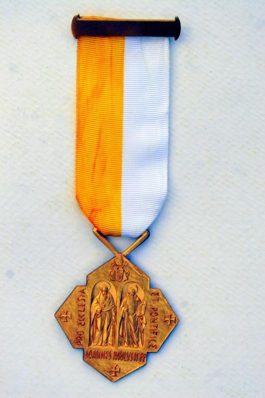 Popiežiaus Jono Pauliaus II medalis. 1986 m.