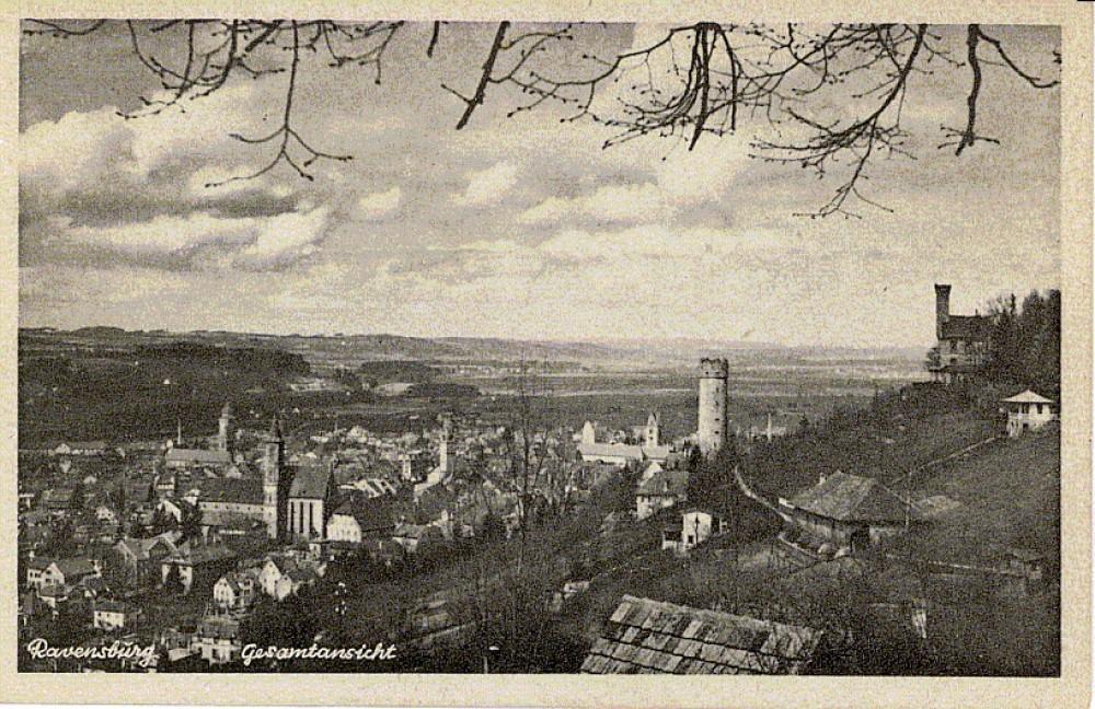 Ravensburgas. Iš Bern. Brazdžionio atvirukų kolekcijos