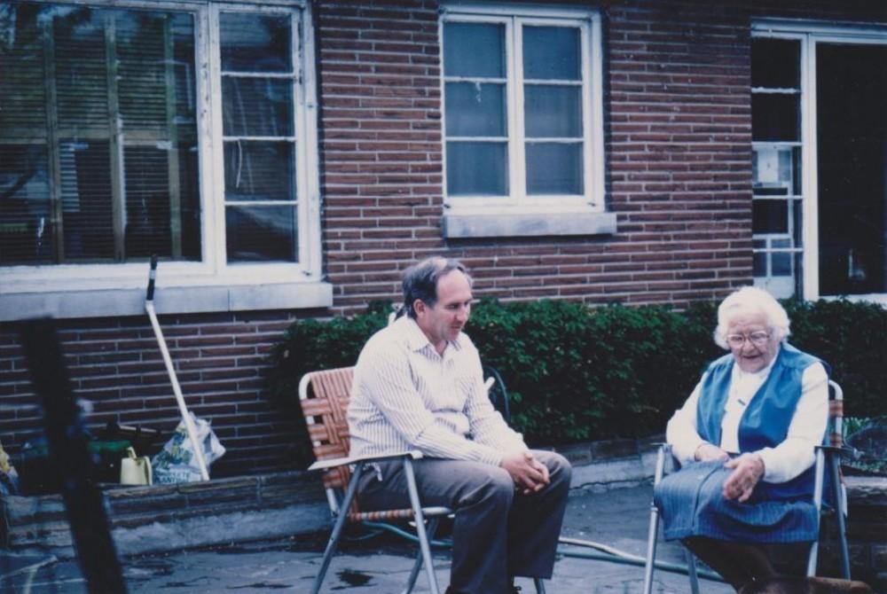 Su A. Samulioniu. Čikaga. 1986 m.