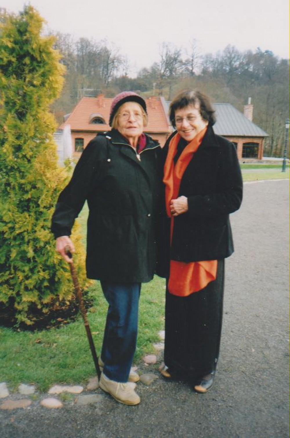 Su Irena Veisaite. Vilnius, 2005 m. lapkritis