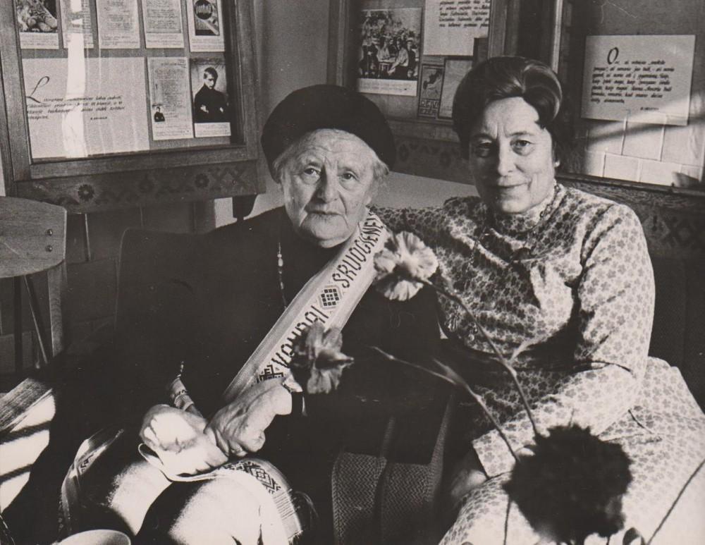 Su J. Peseckiene B. Sruogos muziejuje. Kaunas. 1976 m.
