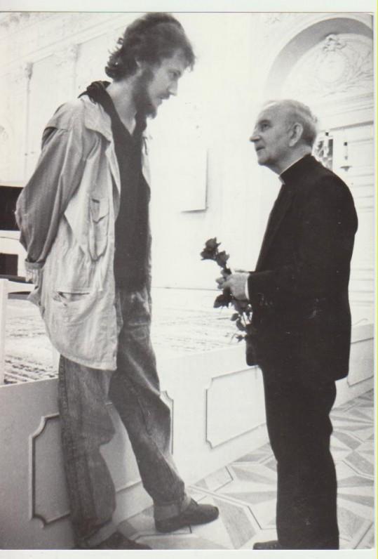 Su Vaidotu Dauniu. Vilnius, 1989 m.
