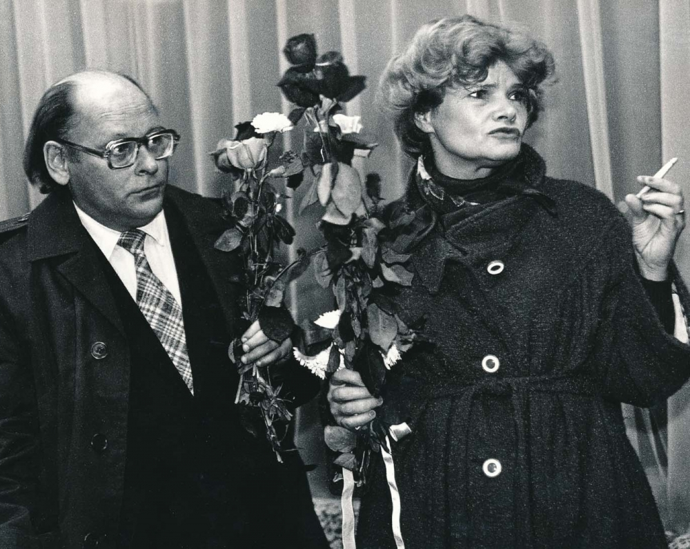 Su aktore Olita Dautartaite Kaune. 1983 m. A. Kairio fotografija