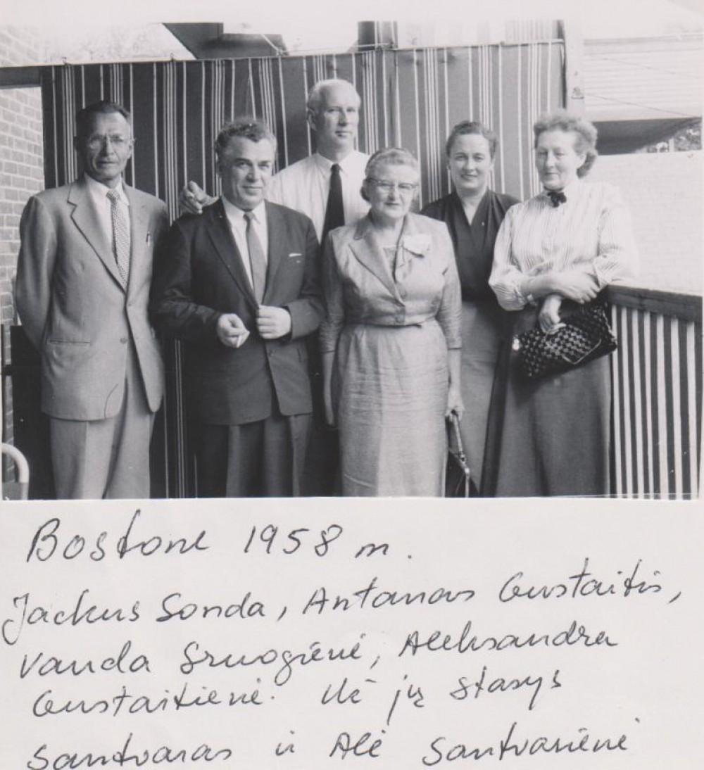 Su bičiuliais. Bostonas. 1958 m.