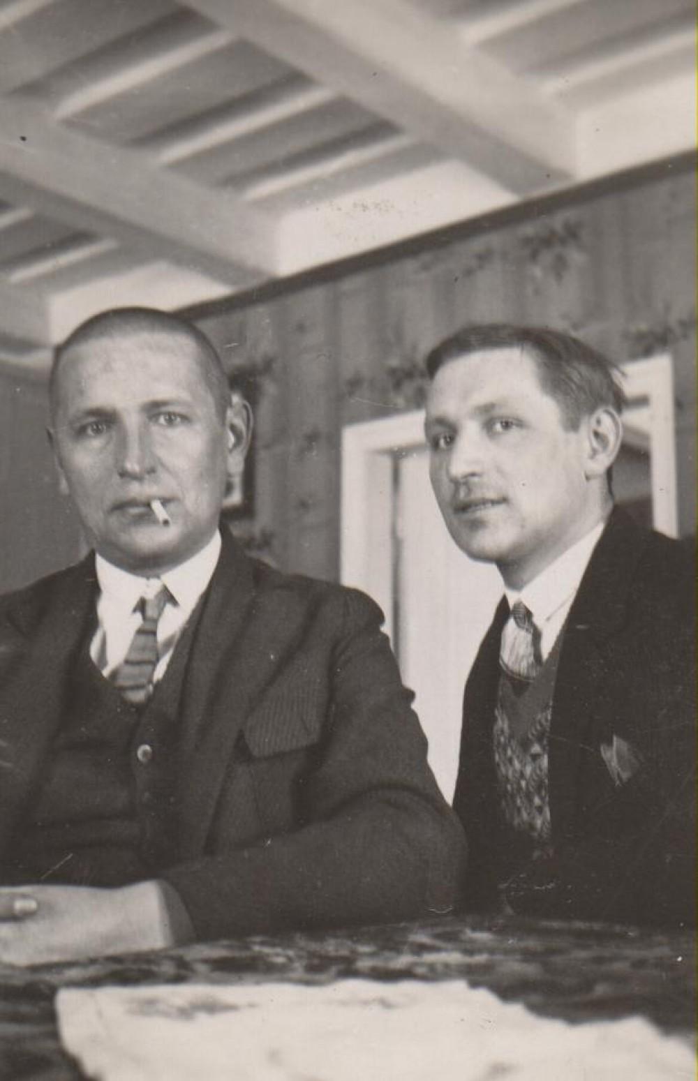 Su broliu Kazimieru. Bugiai, 1929 m. žiema