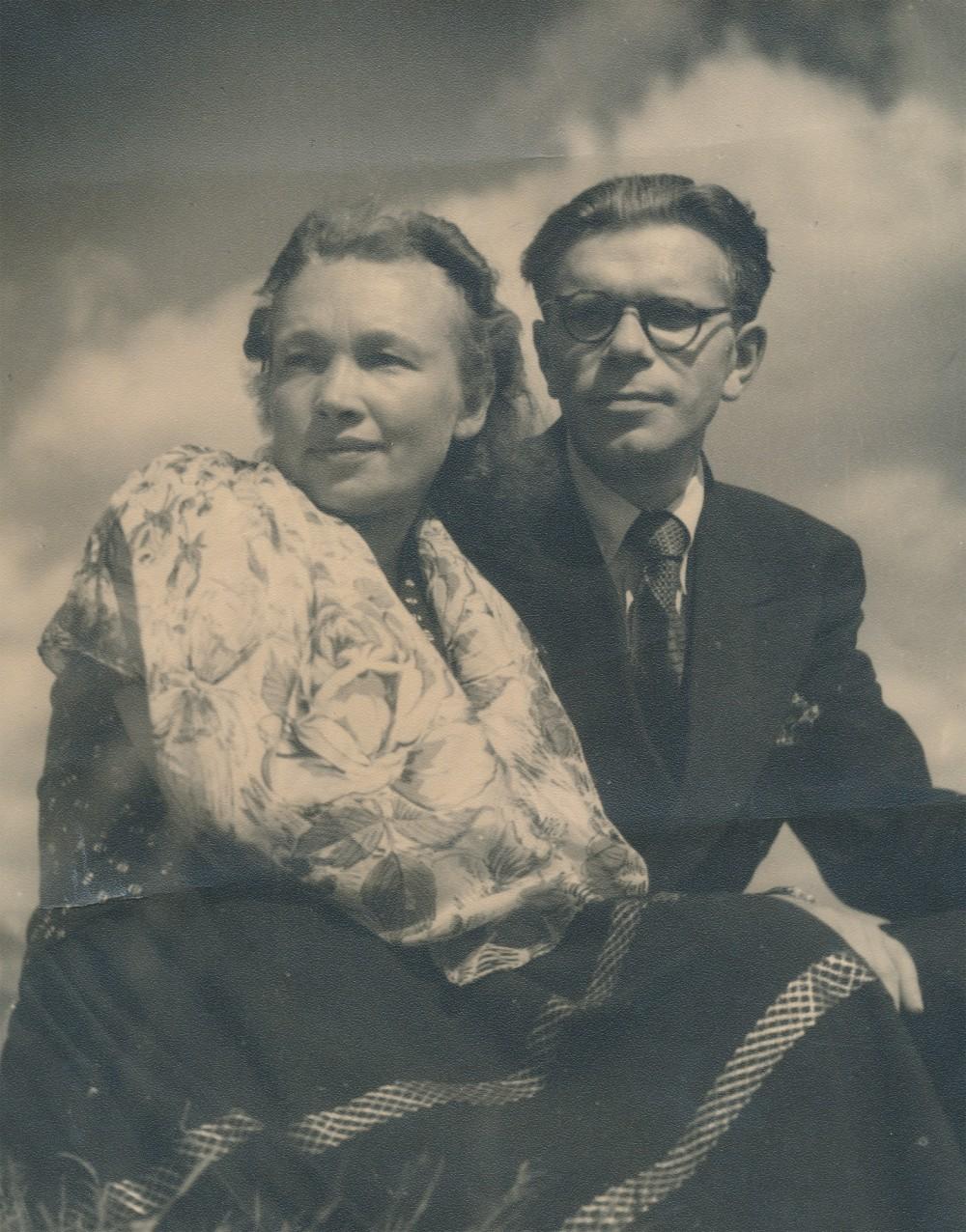 Su žmona Nele Mazalaite. Vokietija. Apie 1946 m.