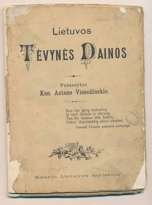 Tilžė. 1898 m. O. Mauderodės spaustuvė. Knygoje yra sudarytojo J. Žebrio pratarmė