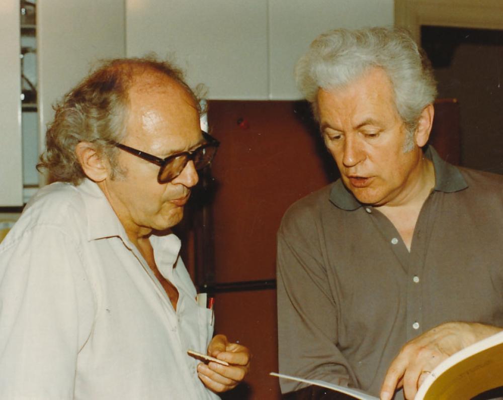 V. Kavolis ir K. Ostrauskas. 1983 m.