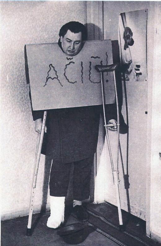 V. Misevičius grįžęs iš ligoninės. Apie 1990 m.