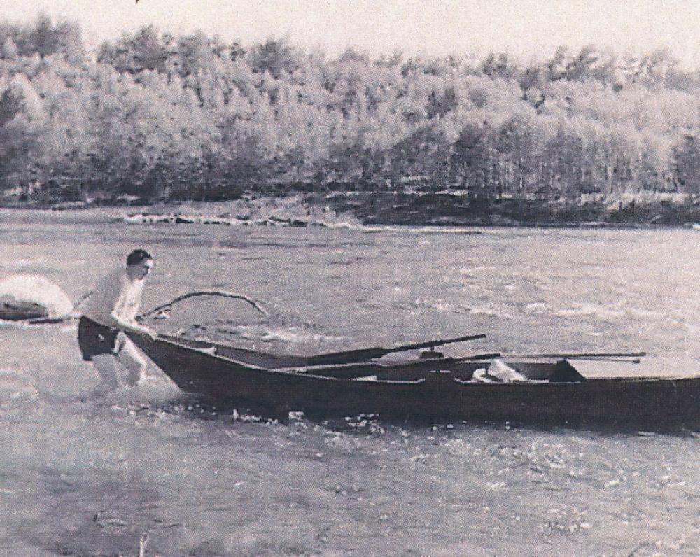 V. Misevičius. Kelionė Nerimi iki Nemuno žiočių. Apie 1950 m.