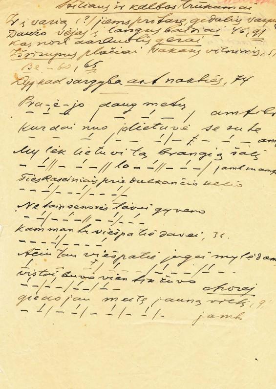 Vaižganto tekstas apie Maironio kūrybą
