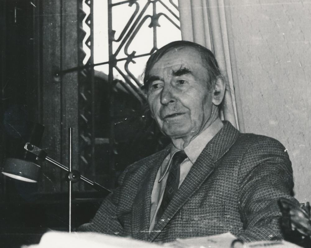 Viena paskutiniųjų poeto nuotraukų – Juozas Žlabys-Žengė. 1991 m.