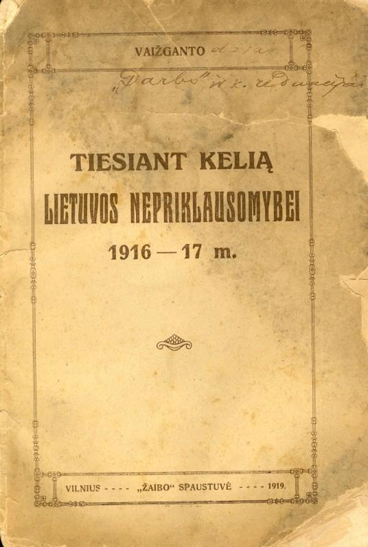 Vilnius, 1919 m.