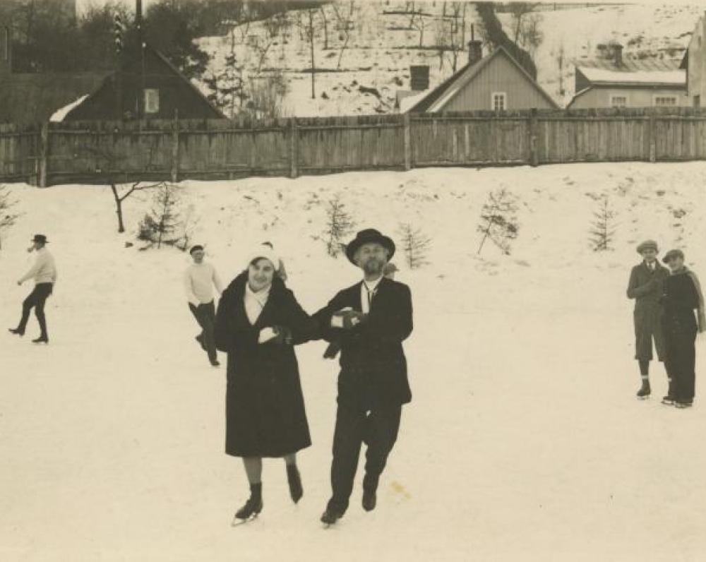 Vydūnas Kauno čiuožykloje. 1931 m.