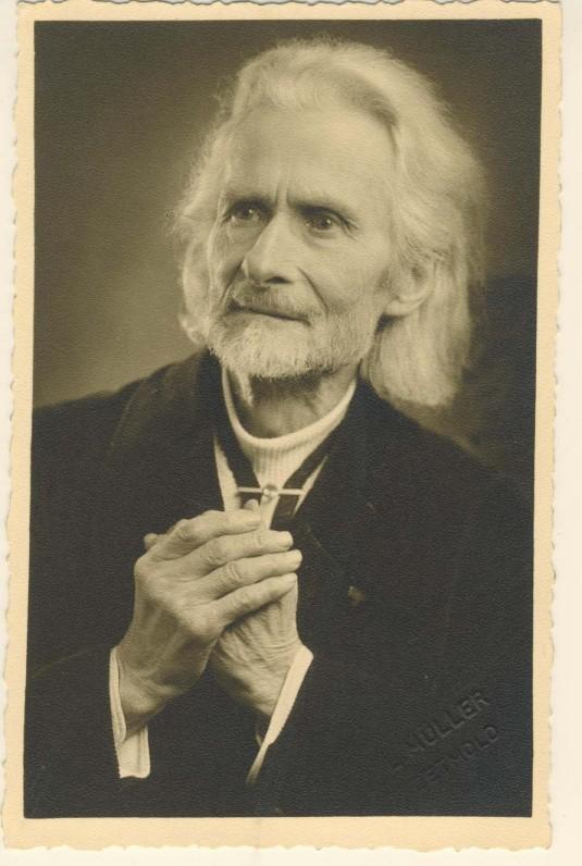 Vydūnas apie 1950 m. L. Muller nuotrauka