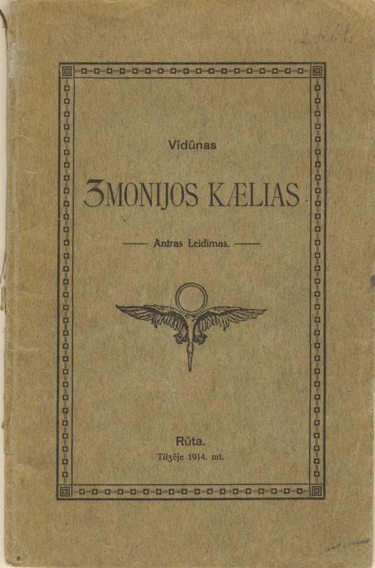 """Vydūnas. """"Žmonijos kelias"""". Tilžė, 1921 m."""