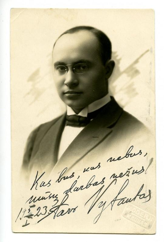 Vytautas Bičiūnas. 1923 m. Originalas saugomas Lietuvos teatro, muzikos ir kino muziejuje