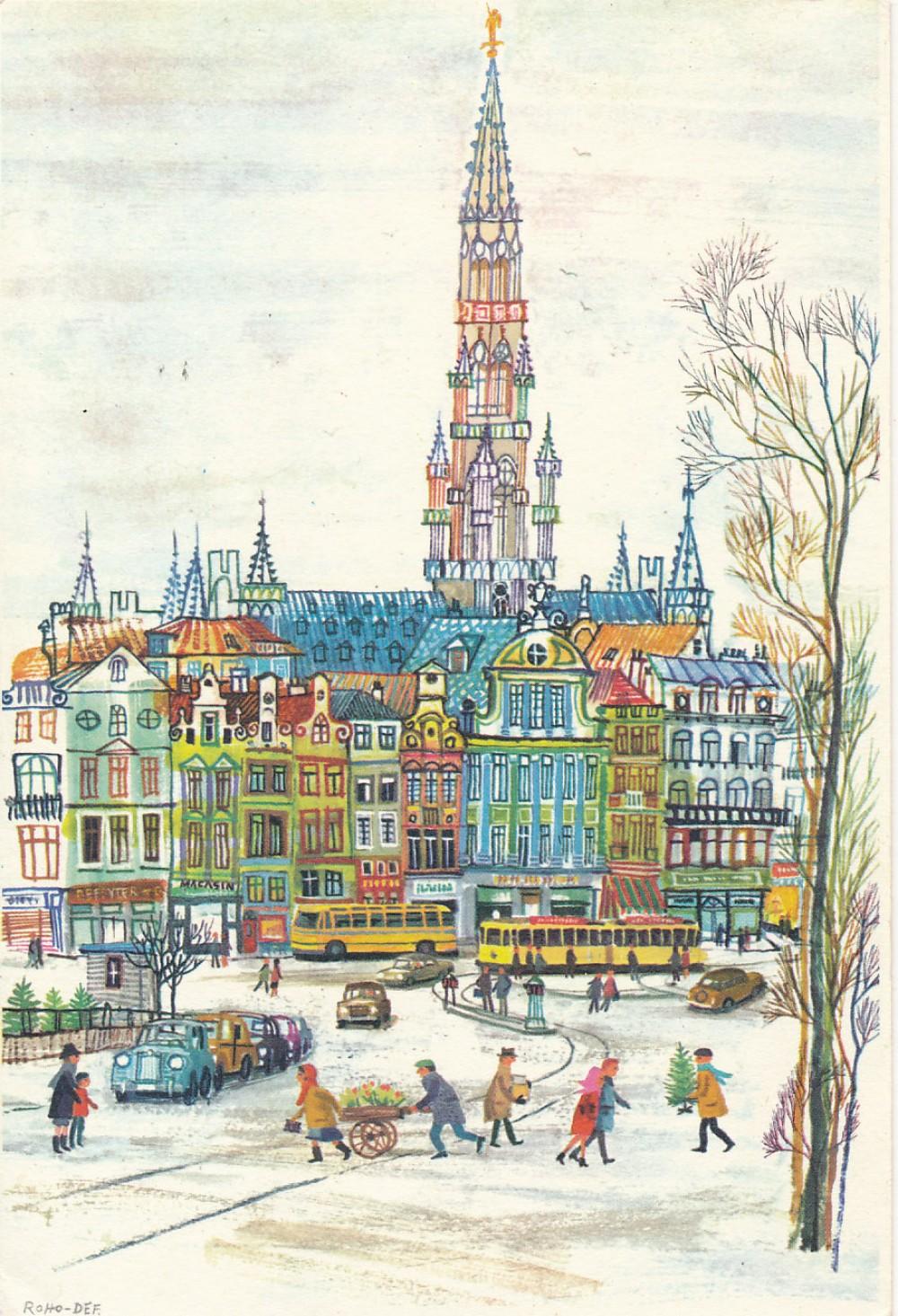Z. ir J. Hellemans Kalėdų ir Naujųjų metų sveikinimas A. ir S. Santvarams, Belgija