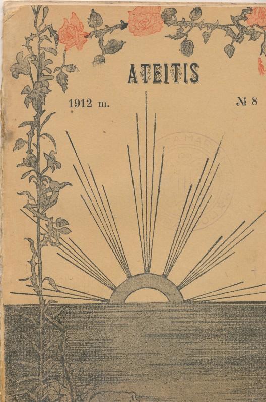 """Žurnalas """"Ateitis"""", kuriame buvo išspausdinti pirmieji Fausto Kiršos eilėraščiai"""