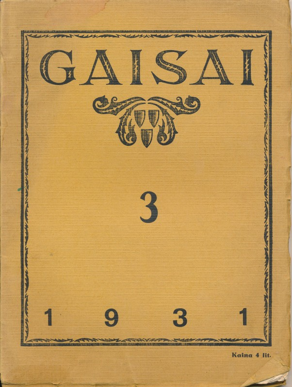 """Žurnalas """"Gaisai"""", kurį F. Kirša redagavo, jame skelbė savo tekstus"""