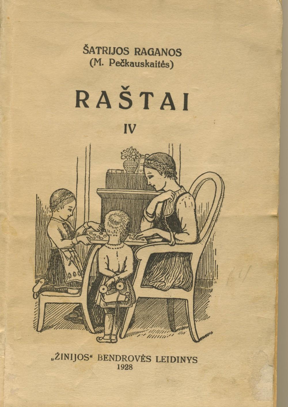 """1928 m. """"Žinijos"""" bendrovė išleido M. Pečkauskaitės """"Raštų"""" šešiatomį"""