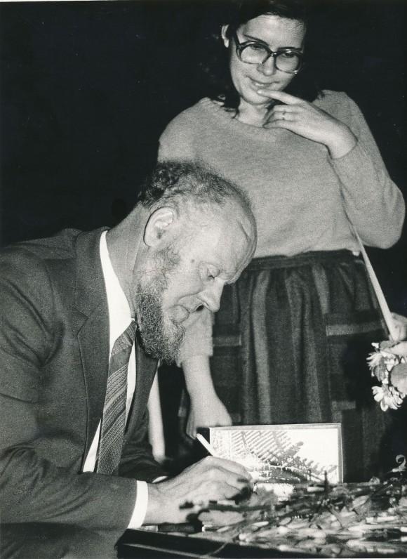 50-mečio jubiliejaus vakare. 1986 m.