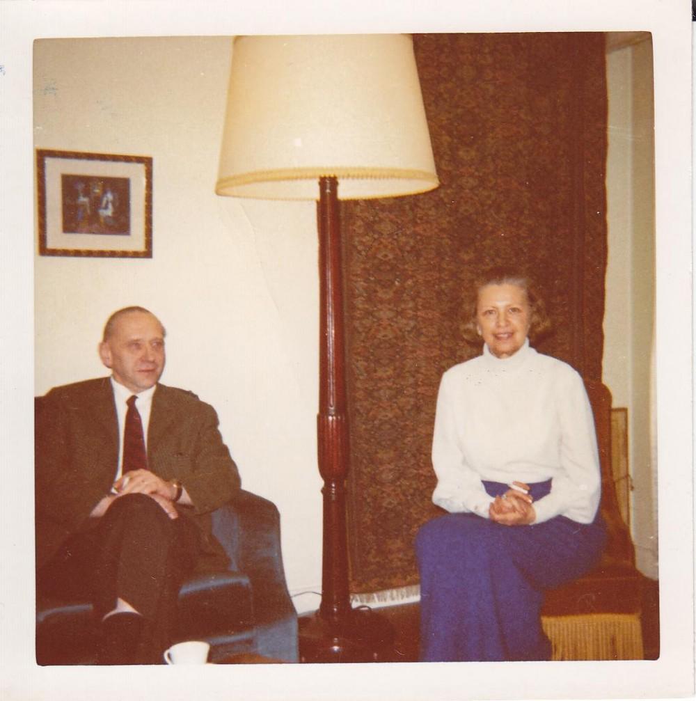 A. J. Greimas su žmona Ona Bagdonaite-Greimiene. Paryžius, 1970 m.