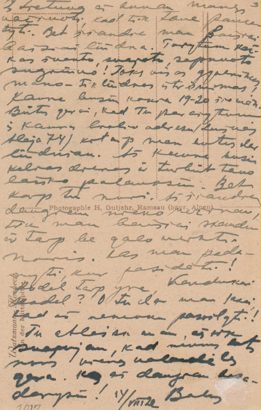 B. Sruogos laiškas V. Daugirdaitei. Miunchenas, 1922 08 14