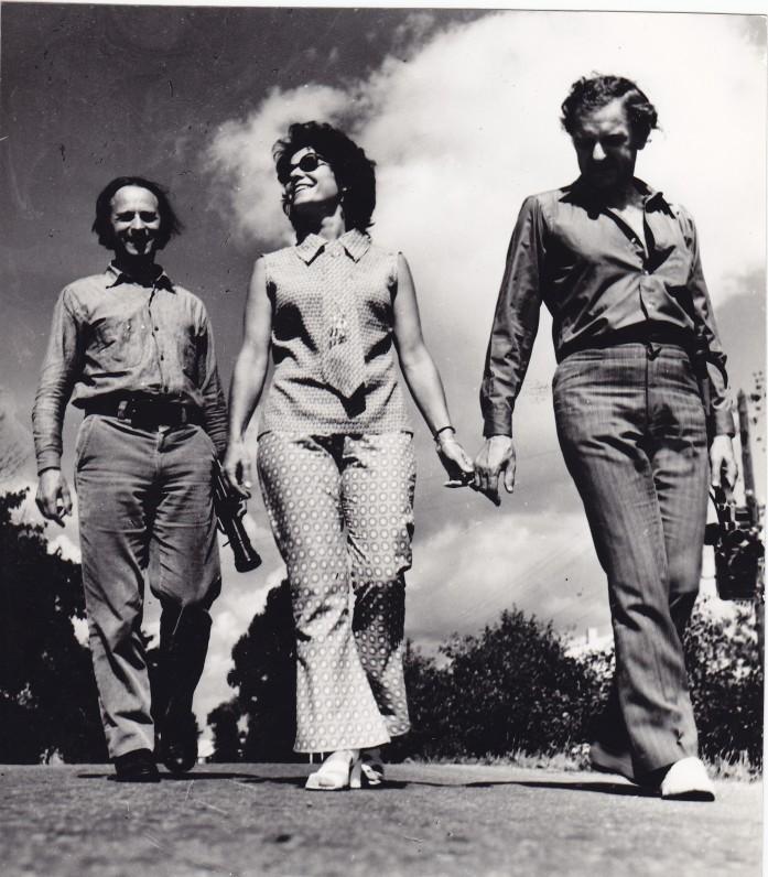 Broliai Mekai ir Adolfo žmona. 1971 m.