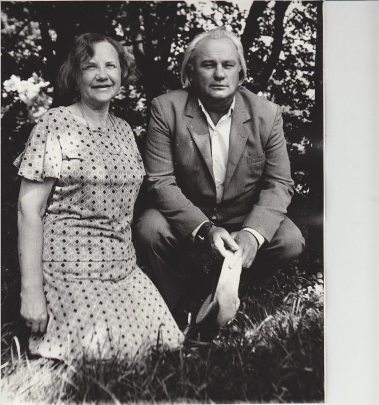Danutė Montvilaitė-Dautartienė ir Vladas Dautartas Vilniuje apie 1987 m.