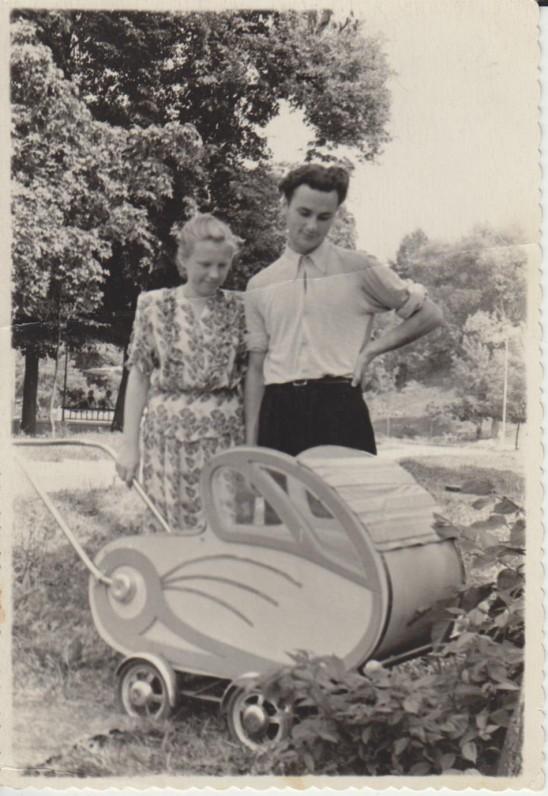 Dautartai su pirmagimiu Juliumi 1953 m.