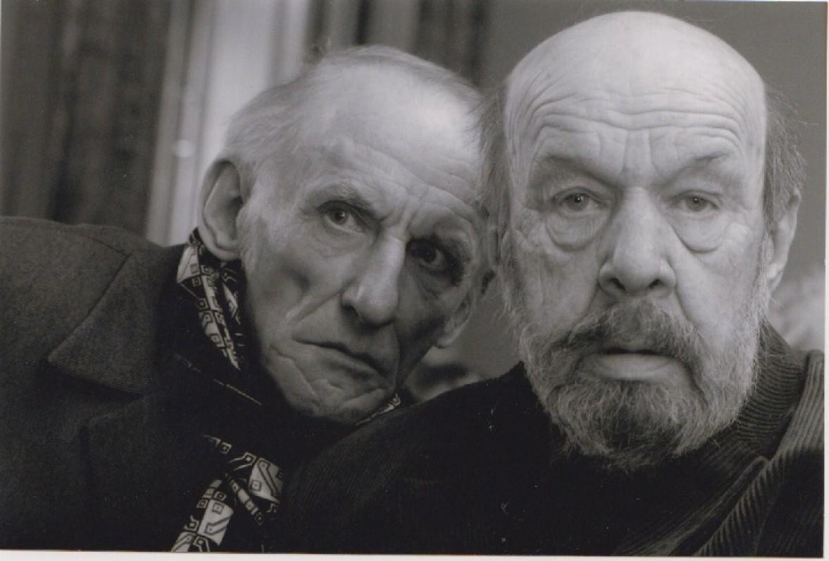 Du draugai – Petras Dirgėla (kairėje) ir Rimantas Šavelis. 2012 m. Z. Baltrušio nuotrauka