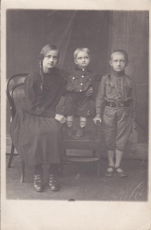 Gražina, Romas, Algirdas Julius Greimai. 1928 m.