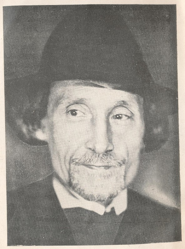 """J. A. Herbačiausko portretas knygos """"Dievo šypsenos"""" tituliniame puslapyje"""