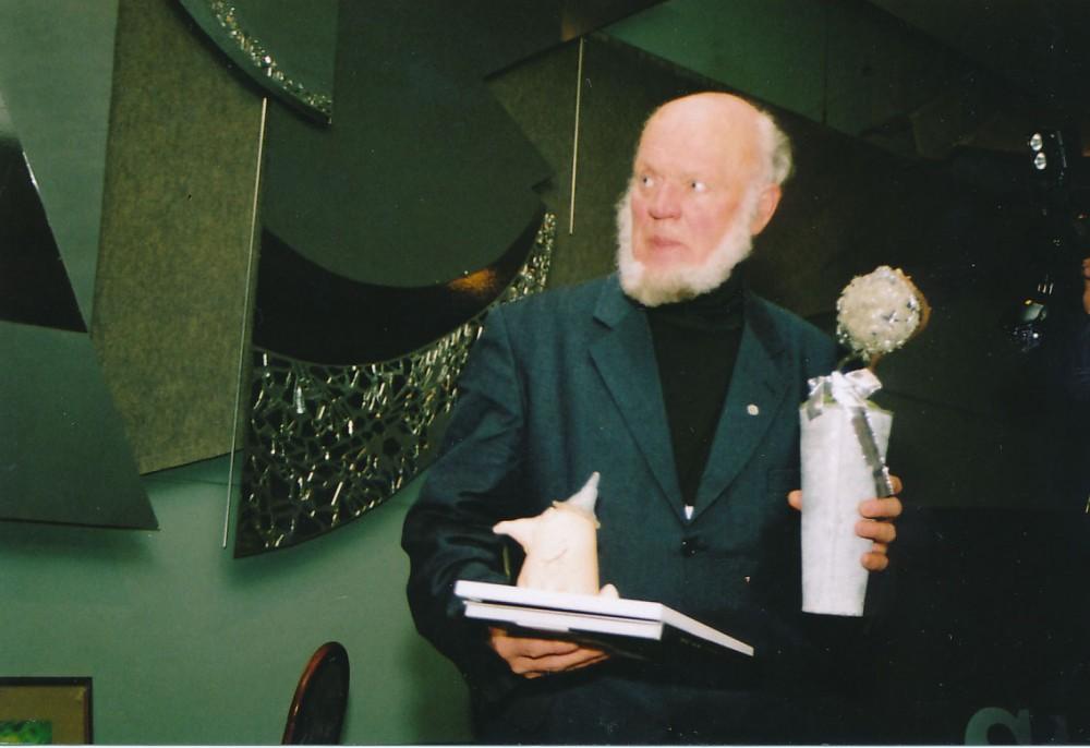 """J. Aputis – 2004-ųjų """"Imbiero vakarų"""" Alytuje laureatas. Z. Baltrušio nuotrauka"""
