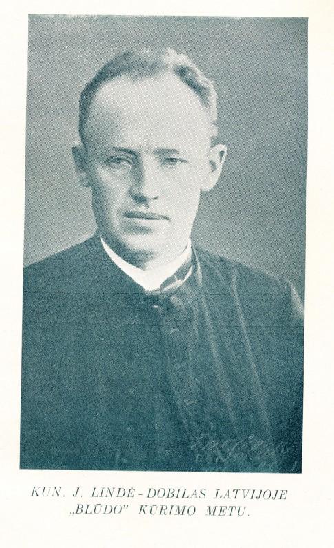 """J. Lindė apie 1910 m. Fotografija iš knygos """"Mūšos Dobilas"""""""