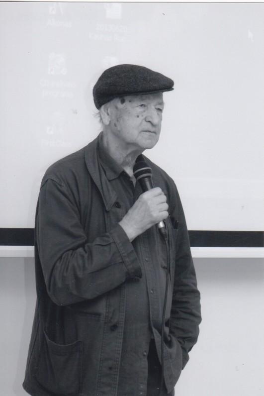 J. Mekas. Vytauto Didžiojo universitetas, Kaunas, 2014 09 18. Z. Baltrušio nuotrauka