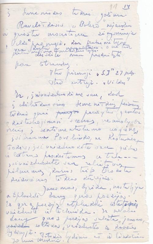 """J. Meko kūrinio """"Semeniškių idilės"""" aptarimas, rašytas A. Škėmos"""