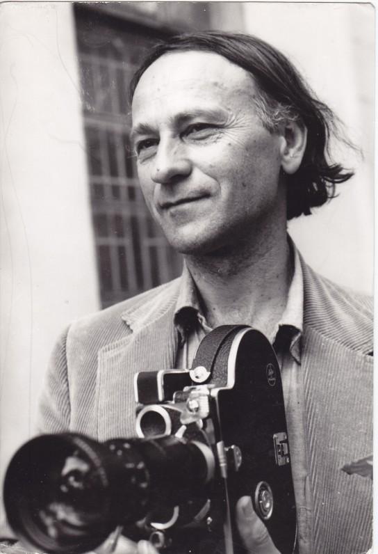 Jonas Mekas Biržuose, 1971 m. V. Kapočiaus nuotrauka