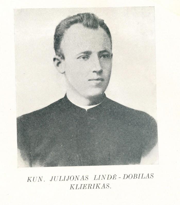 """Julijonas Lindė apie 1895 m. Fotografija iš knygos """"Mūšos Dobilas"""""""