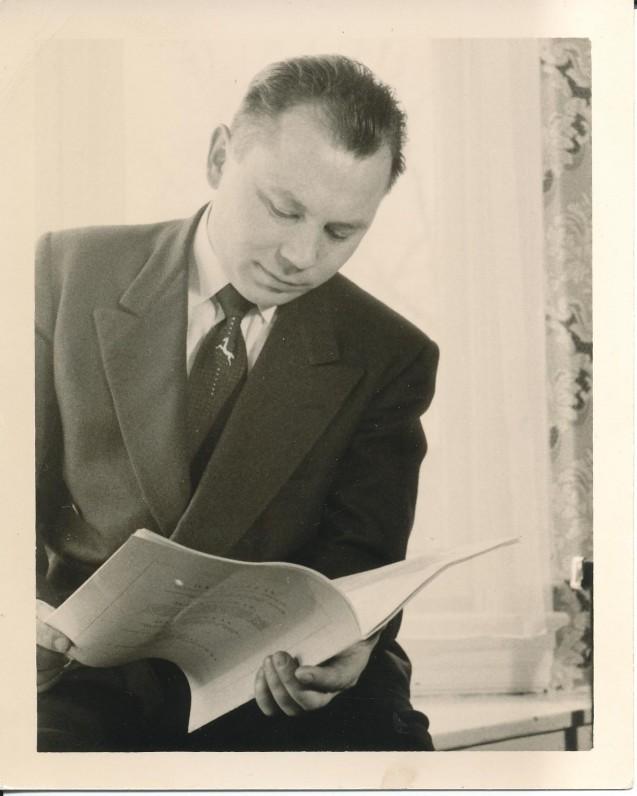 K. Bradūnas. Apie 1951 m.