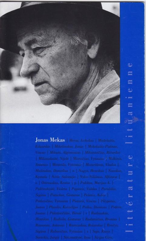 Lankstukas apie J. Meką, prancūzų k. Paryžius, 2003 m.