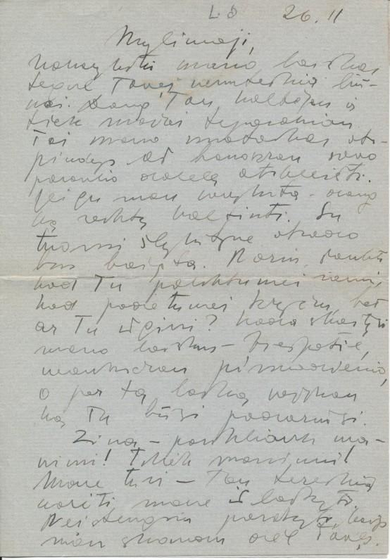 M. Katiliškio laiškas Z. Nagytei