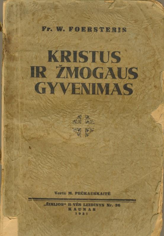 M. Pečkauskaitės vertimas iš vokiečių k.