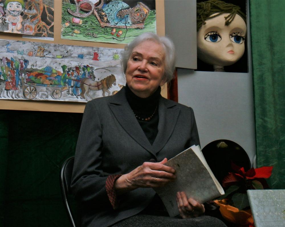 Ramutė Skučaitė Vaikų literatūros muziejuje. 2016 m. gruodžio 14 d. Z. Baltrušio nuotrauka