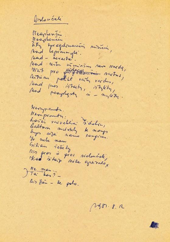 Ramutės Skučaitės rankraštis