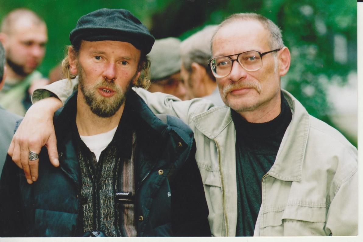 Su Alium Balbierium. Poetinis Druskininkų ruduo. 2004 m. Nuotr. Z. Baltrušio
